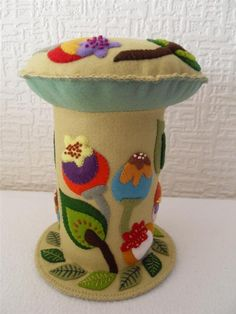 Large floral pincushion by ThatPincushionPlace on Etsy