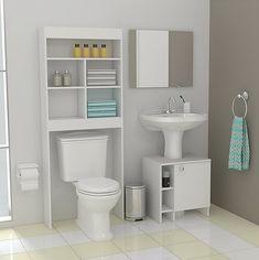 Easy Home Decors Easy Home Decors Small Bathroom Storage, Bathroom Organisation, Home Organization, Home Decor Furniture, Bathroom Furniture, Bathroom Interior Design, Interior Decorating, Small Toilet, Wooden Bathroom