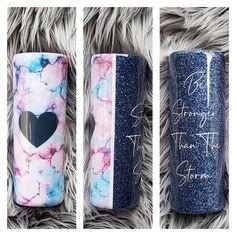 Glitter Cups, Glitter Hearts, Blue Glitter, Glitter Tumblers, Vinyl Tumblers, Custom Tumblers, Tumblr Cup, Mom Tumbler, Yeti Cup