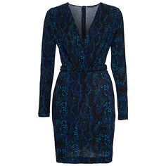 Buy French Connection Soho Boa Jersey Dress, Black Multi, 12 Online at johnlewis.com