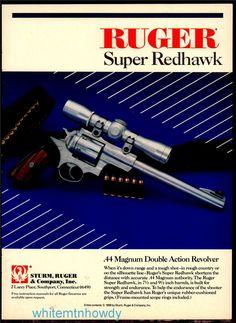 1990 RUGER Super Redhawk Revolver PRINT AD : Other Collectibles at GunBroker.com