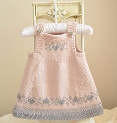Luv U Forever Pinafore Dress This Knitting project is available from loveknitting. Full Post: Luv U Forever Pinafore Dress Baby Knitting Patterns, Christmas Knitting Patterns, Knitting Charts, Free Knitting, Sport Weight Yarn, Dress Gloves, Pinafore Dress, Yarn Brands, Knitting For Beginners