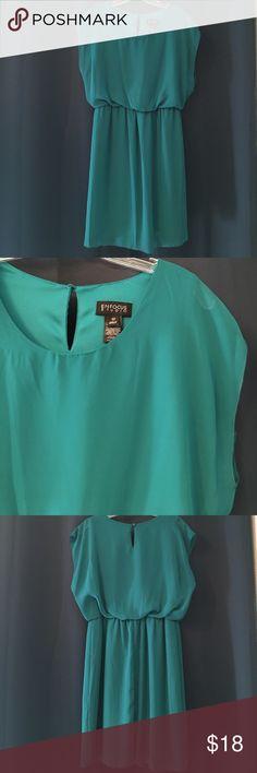 Enfocus Studio Teal Dress Size 10, 100% polyester. Enfocus Studio Dresses