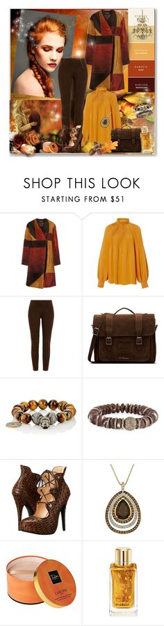 """""""Orange & Chocolate..."""" by nannerl27forever ❤ liked on Polyvore featuring Michael Kors, Thakoon, TIBI, Ralph Lauren Black Label, Dr. Martens, Carole Shashona, Sheryl Lowe, Vivienne Westwood and Lancôme"""