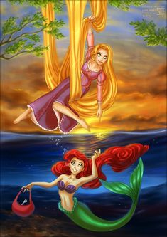 Rapunzel + Ariel want to know when their lives will begin