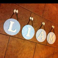 Wall Name hanging can be made in any color or style endless possibilities!!   visit www.facebook.com/MandMinthemirror or contact me directly Jodig1223@aol.com