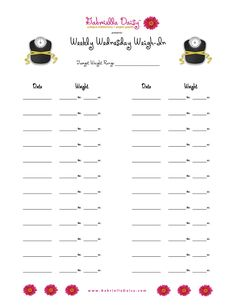Wednesday Weigh-In Worksheet Weight Loss Binder, Weight Loss Goals, Weight Loss Motivation, Fitness Motivation, Goals Worksheet, Goal Setting Worksheet, Fitness Planner, Fitness Binder, Health Planner