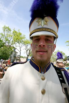 That's my man, in his May Day marching band ensemble