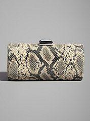 Kaylan Snake-Print Minaudiere: Guess by Marciano Guess By Marciano, Guess Jeans, Snake Print, Sexy Dresses, Handbags, Purses, Kids, Accessories, Women