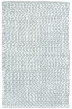 Herringbone Light Blue/Ivory Indoor/Outdoor Rug
