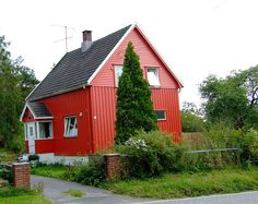 Typical house in Norway - sandefjord, Vestfold