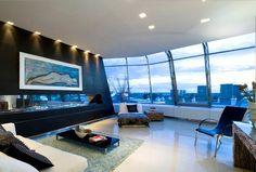 Hi tech london penthouse interior design