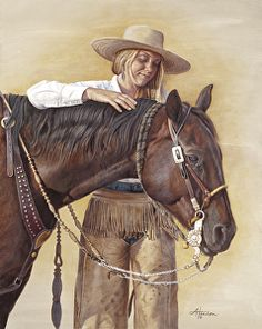 A Light Touch by artist Ann Hanson. #westernart found on the FASO Daily Art Show - http://dailyartshow.faso.com