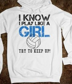 Buy I know I play like a girl volleyball Hoodie hoodie is Made To Order, one by one printed so we can control the quality. We use newest DTG Technology to print on to I know I play like a girl volleyball Hoodie Volleyball Memes, Volleyball Outfits, Play Volleyball, Volleyball Nails, Volleyball Crafts, Volleyball Designs, Volleyball Pictures, Play Soccer, Soccer Ball