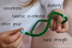 Threading with Pipe Cleaners and Beads - The Imagination Tree