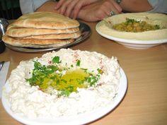 Hummus served at a restaurant in Haifa Israel.