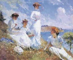 Summer, 1909, Frank Benson. Hanging above our fireplace back home :)