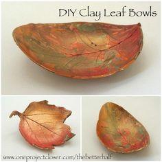 Autumn Leaf Bowls - 15 Fabulous Fall Leaf Crafts for Kids