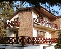Rustykalne balustrady są niewątpliwą ozdobą domu
