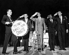 Rat pack: Stern snapped this image of (left to right) Frank Sinatra, Joey Bishop, Dean Martin, Sammy Davis Jr., and Peter Lawford) in 1962