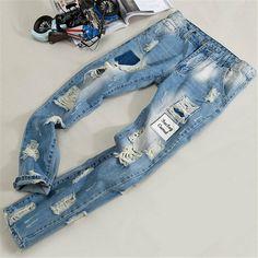 Patch Designer mens jeans Biker denim Ripped jeans for men Skinny  High quality Destroyed brand Straight jeans Fashion man