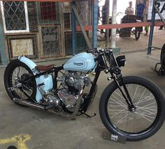 Triumph Bobber #Springer #Custom #Chopper #2 wheels for life