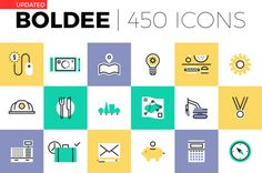 Boldee Pictogram Collection by Bloomua on @creativemarket