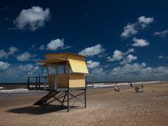 Lifeguard Hut on the Beach, Carrasco Beach, Carrasco, Montevideo ...