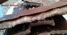 Μπάρες καρύδα - σοκολάτα νηστίσιμες με στεβια Caramel Apple Slices, Caramel Apples, Desserts, Food, Tailgate Desserts, Deserts, Essen, Postres, Meals