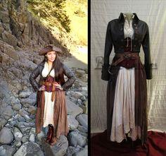King Costume, Female Pirate Costume, Woman Pirate Costume Diy, Toga Costume, Pirate Costumes, Steampunk Pirate, Steampunk Costume, Corset Costumes, Cosplay Costumes