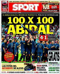 Los Titulares y Portadas de Noticias Destacadas Españolas del 2 de Junio de 2013 del Diario Deportivo SPORT ¿Que le parecio esta Portada de este Diario Español?