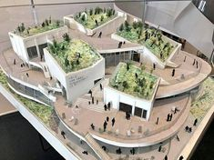 Architecture Model Making, Temple Architecture, Studios Architecture, Residential Architecture, Landscape Architecture, Architecture Design, Commercial Landscape Design, Presentation Board Design, Mix Use Building