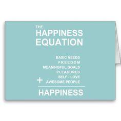"""Cette équation de bonheur a été inventée par le concepteur pour InspirationzStore.  <br><br>  le bonheur, équation, formule, heureuse, psychologie, positif, pensant, psych, chant religieux, spiritualité, """"soit heureux"""", """"équation de bonheur"""", """"formule de bonheur"""", des composants, mots, typographie, Abraham, ploucs, bien-être, """"bien-être"""", """"autonomie"""", """"développement personnel"""", texte, bleu, aqua, turquoise, sarcelle d'hiver, menthe"""