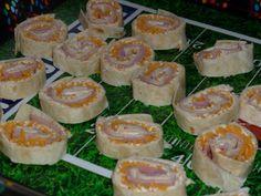 Garden Vegetable Cream Cheese Pinwheels ~ Time 2 Eat Yall