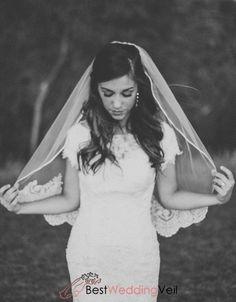 Ribbon And Lace Edged Short Bride Wedding Veils With Comb Veil Wedding Veils, Wedding Poses, Wedding Couples, Wedding Bride, Wedding Day, Wedding Dresses, Budget Wedding, Wedding Ceremony, Wedding Things