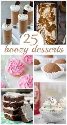 25 Boozy Desserts via Framed Frosting