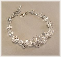 Clear Swarovski Crystal Wedding Bracelet, Wedding Day Bracelet, Rock Candy Bracelet, Special Day Bracelet $49