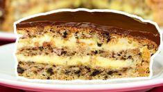 Rețeta celui mai bun tort cu nucă - îl prepar când vreau ceva deosebit!|... Apple Desserts, Party Desserts, Just Desserts, Dessert Recipes, Hungarian Cake, Romanian Desserts, Specialty Cakes, Sweet Bread, No Bake Cake