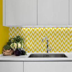 Herringbone Pattern Furniture Stencil | Royal Design Studio