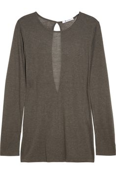 Keyhole jersey top by T by Alexander Wang