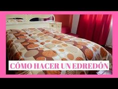 HAZ UN EDREDÓN CON MÁQUINA FAMILIAR 😍 - YouTube Cool Inventions, Dyi, Comforters, Sewing Projects, Quilts, Blanket, Bedroom, Table, Furniture