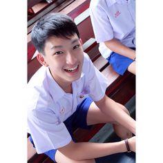 Thai Tea, Boy Pictures, Photo Wall Collage, Asian Boys, School Uniform, Digital Media, Shirt Shop, Old Photos, Thailand