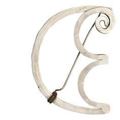 Brooch (CE initials)    Alexander Calder.  Hammered Silver ca 1957.
