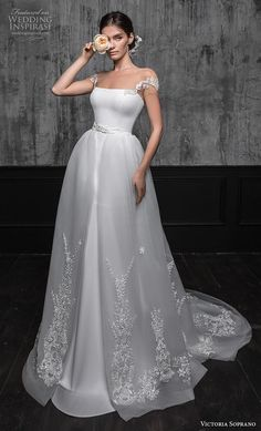 Wedding Designs victoria soprano 2020 bridal cap sleeves illusion bateau straight across neckline simple clean fit and flare wedding dress a line overskirt corset back short train mv -- Victoria Soprano 2020 Wedding Dresses Simple Wedding Gowns, Western Wedding Dresses, Fit And Flare Wedding Dress, Princess Wedding Dresses, Dream Wedding Dresses, Bridal Dresses, Casual Wedding, Gown Wedding, Trendy Wedding