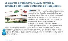 La empresa agroalimentaria Avicu reinicia su actividad y contratara centenares de trabajadores