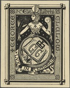 ancient-Egypt themed bookplate engraving