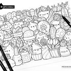 #inktober Day 2 - Plants #inktober2016 #coloringpage