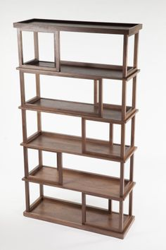 Walnut Multifunctional Bookshelf