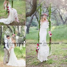 Vintage Inspired Hippie Bohemian Forest Off Shoulder Wedding Dresses 2017 Plus Size Elegant Cheap Full Length Country Wedding Gowns A Line Wedding A Line Wedding Dresses Pinterest From Gaogao8899, $136.69| Dhgate.Com