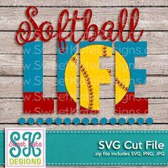 Softball Life SVG